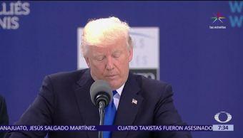 Trump, reprocha, aportaciones, OTAN