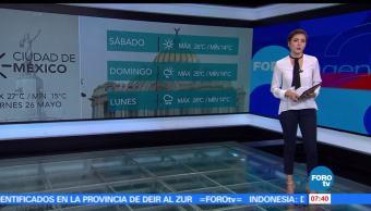 El clima, Daniela Álvarez, baja presión, lluvias