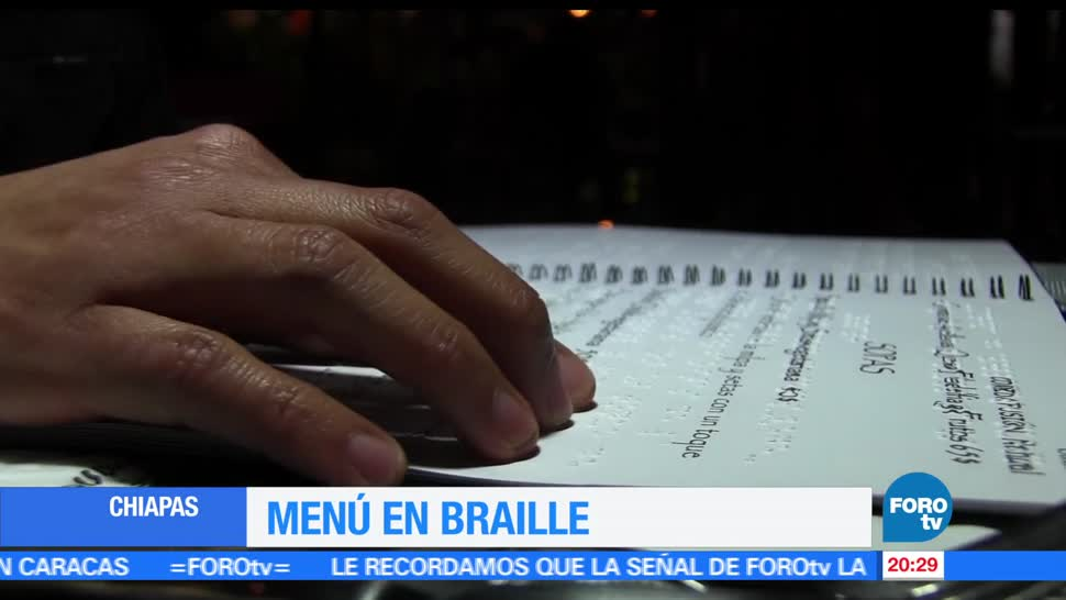Ofrecen, menú, braille, restaurante Chiapas, san cristobal, restarante ciegos