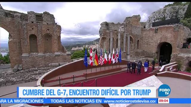 Cumbre, G-7, dirigentes, presidente Trump