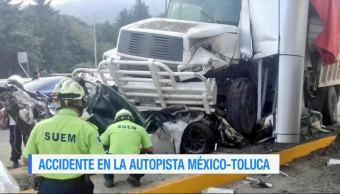 Cuatro, personas, mueren, autopista México-Toluca