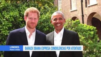 Barack Obama, expresa, condolencias, atentado en Manchester, visita, principe harry