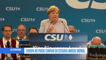 europeos, Angela Merkel, canciller alemana, Trump