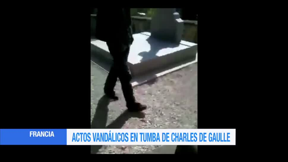 Actos, vandálicos, tumba, Charles de Gaulle