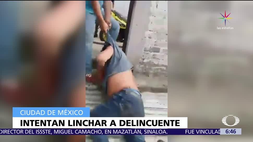 policías, CDMX, patrullas, hombre acusado, robo, linchado en Milpa Alta