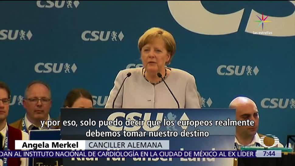 canciller alemana, Angela Merkel, Europa, aliados, Reino Unido, Estados Unidos