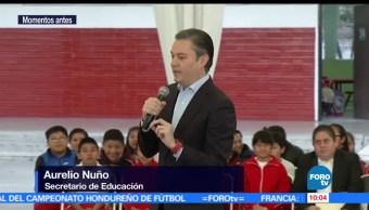 Aurelio Nuño Mayer, secretario de Educación Pública, primaria, delegación Miguel Hidalgo