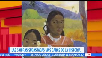 Sofía Escobosa, cinco obras subastadas, caras de la historia, historia
