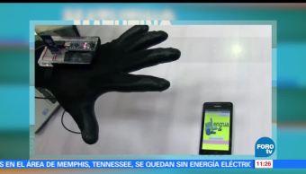 Estudiantes de Pátzcuaro, Michoacán, guante, aplicación para celular