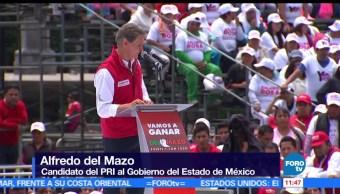 Alfredo del Mazo, candidato del PRI, gubernatura del Estado de México, campaña