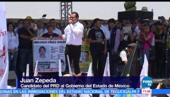Juan Zepeda, candidato del PRD, Gobierno del Edomex, adversarios, proyecto