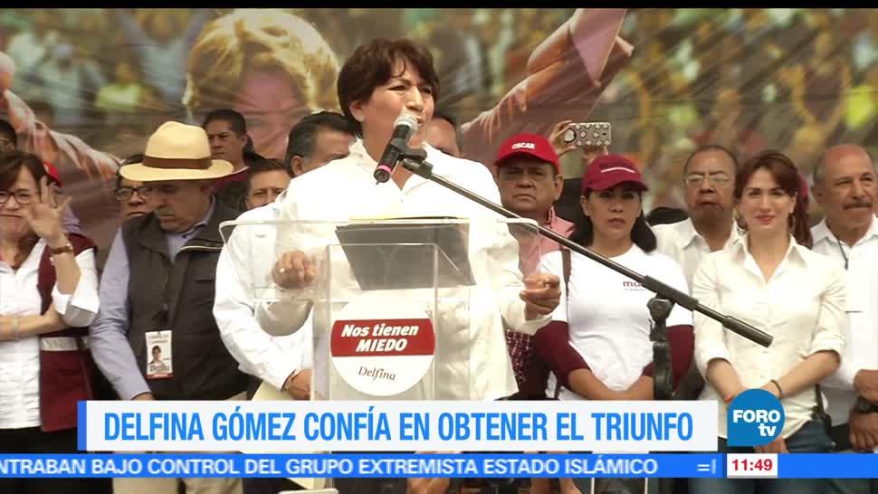 cierre de campaña, Nezahualcóyotl, Delfina Gómez, candidata de Morena, Edomex