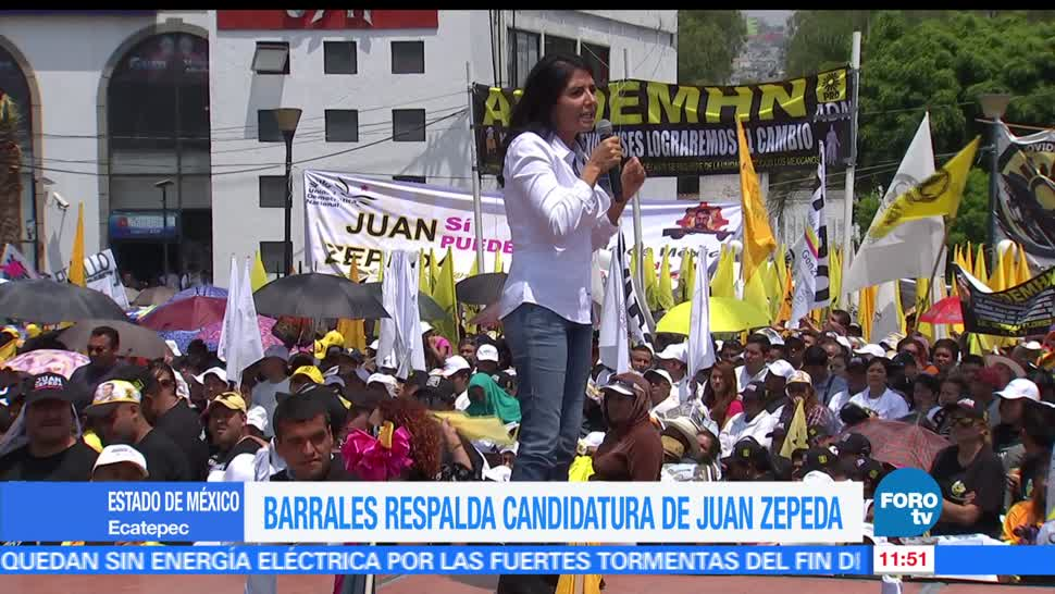 Ecatepec, Alejandra Barrales, presidenta nacional del PRD, Juan Zepeda, candidato, Estado de México