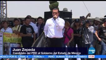 Juan Zepeda, candidato del PRD, cierra, Ecatepec