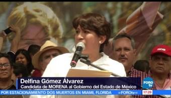 candidata de Morena, Delfina Gómez, Nezahualcóyotl, actividades