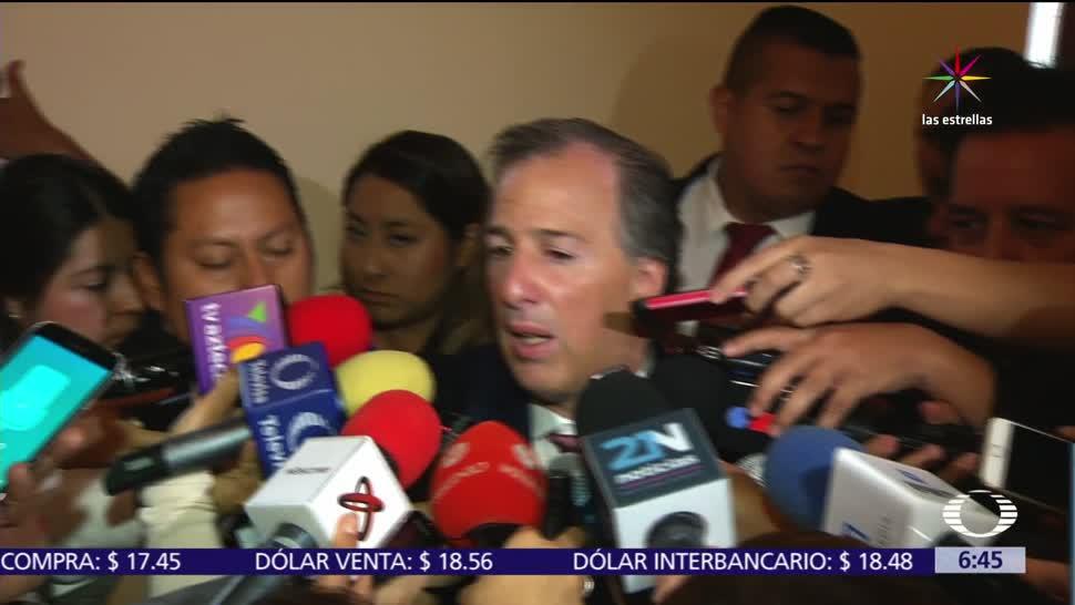 José Antonio Meade, secretario de Hacienda, peso mexicano, recupera, dólar estadounidense