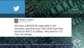 Twitter, Donald Trump, Alemania, cuotas, OTAN
