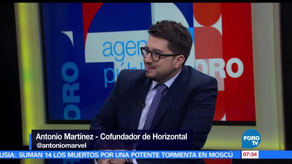 Antonio Martínez, cofundador de Horizontal, actividades, Foro Agenda de Periodistas