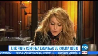 Erick rubín, Paulina Rubio, hijos, nuevo embarazo