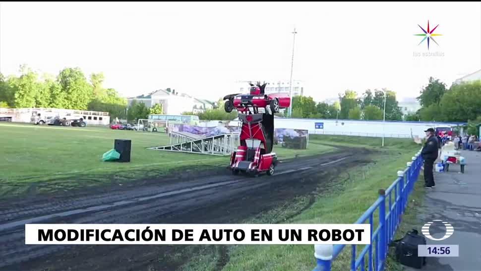 Auto-transformer, Rusia, padre y su hijo, robot