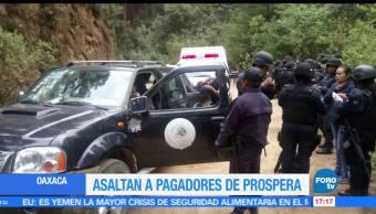 Asaltan, trabajadores, Prospera, Oaxaca
