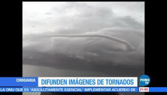 noticias, forotv, Difunden, imágenes, tornado, Chihuahua