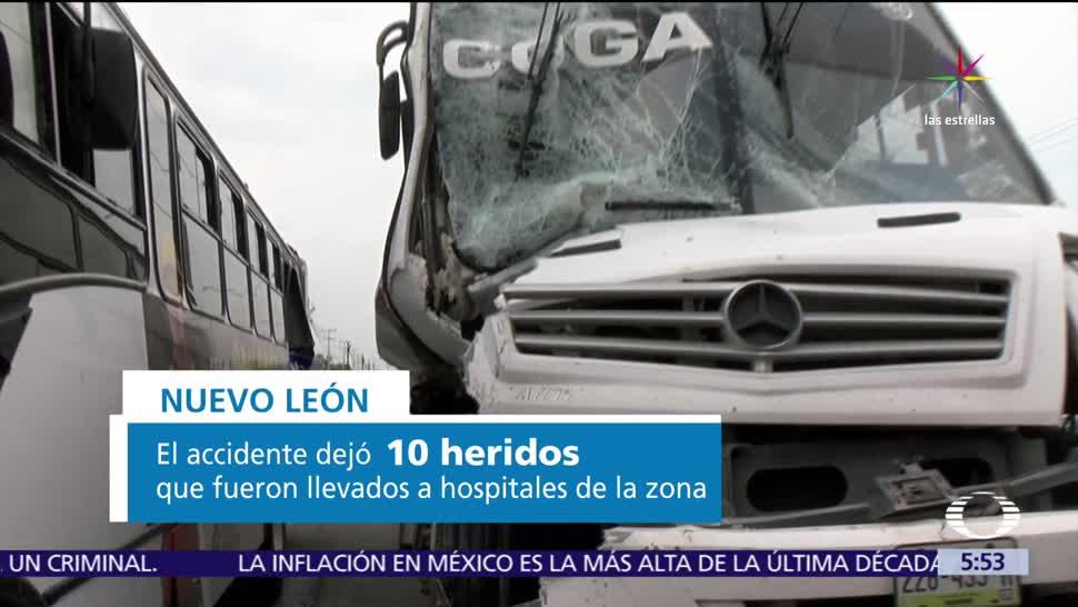 autobús, impacta, transporte urbano, Monterrey, hospitales