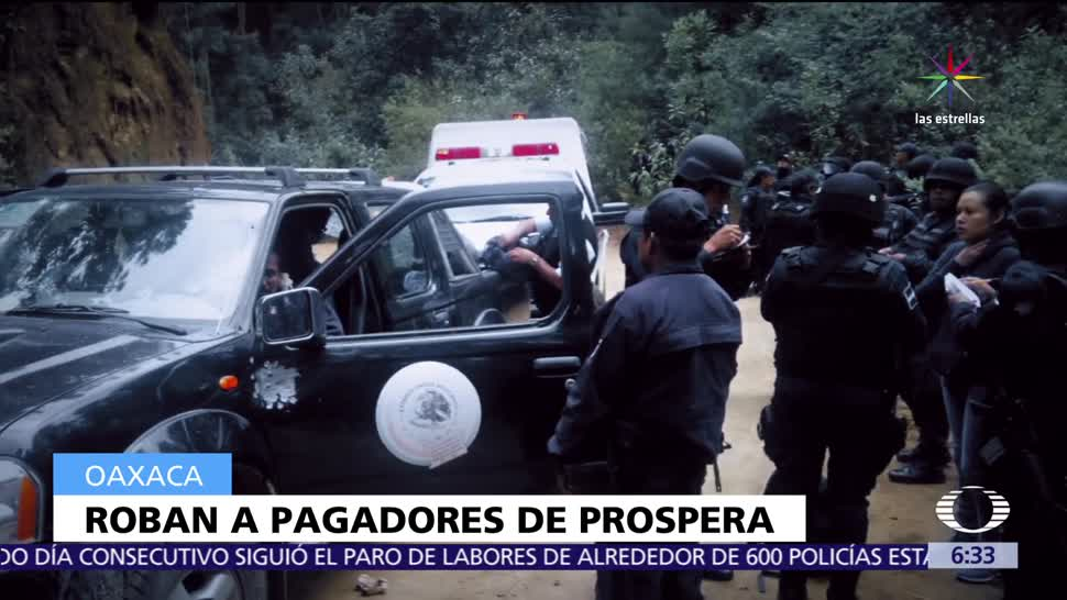 Asaltan a representantes, programa Prospera, Oaxaca, hombres armados, delegación