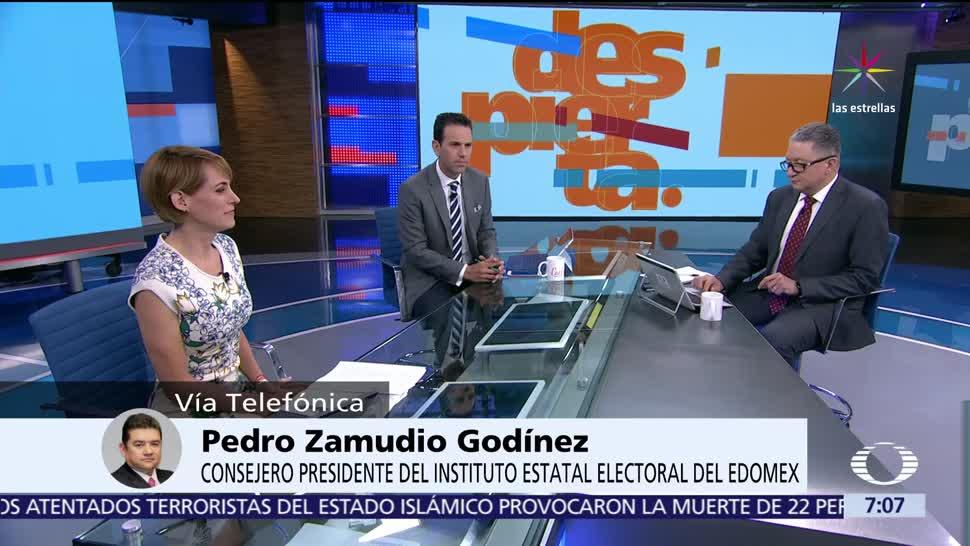 Pedro Zamudio Godínez, consejero presidente, Instituto Estatal Electoral, Estado de México, 4 de junio