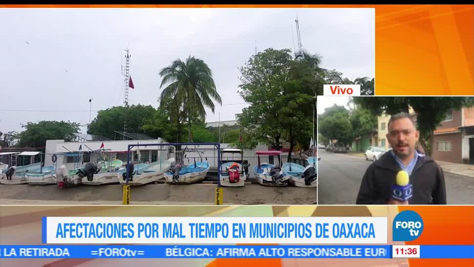 Oaxaca, efectos de la depresión tropical, depresión tropical 2-E, nublados densos, oleaje elevado