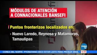 Virgilio Andrade, titular de Bansefi, módulos, puntos fronterizos, servicios financieros