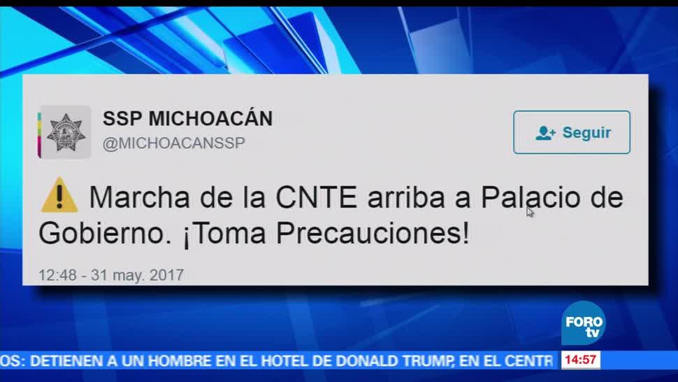 noticias, forotv, Simpatizantes, CNTE, marchan, Morelia