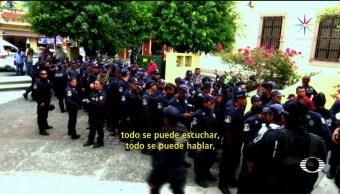 Policías, Chilpancingo, protestan, despidos, guerreo, marcha