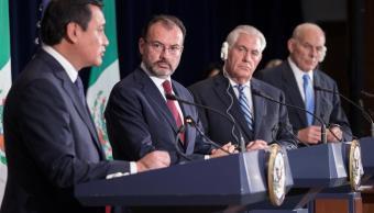 Mexico, Estdos unidos, Luis Videgaray, Miguel angel osorio chong, John kelly, rex tillerson
