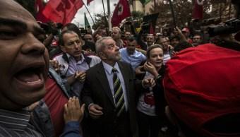 El expresidente de Brasil, Luiz Inácio Lula da Silva, llega al Tribunal Federal para testificar por corrupción. (Getty Images)