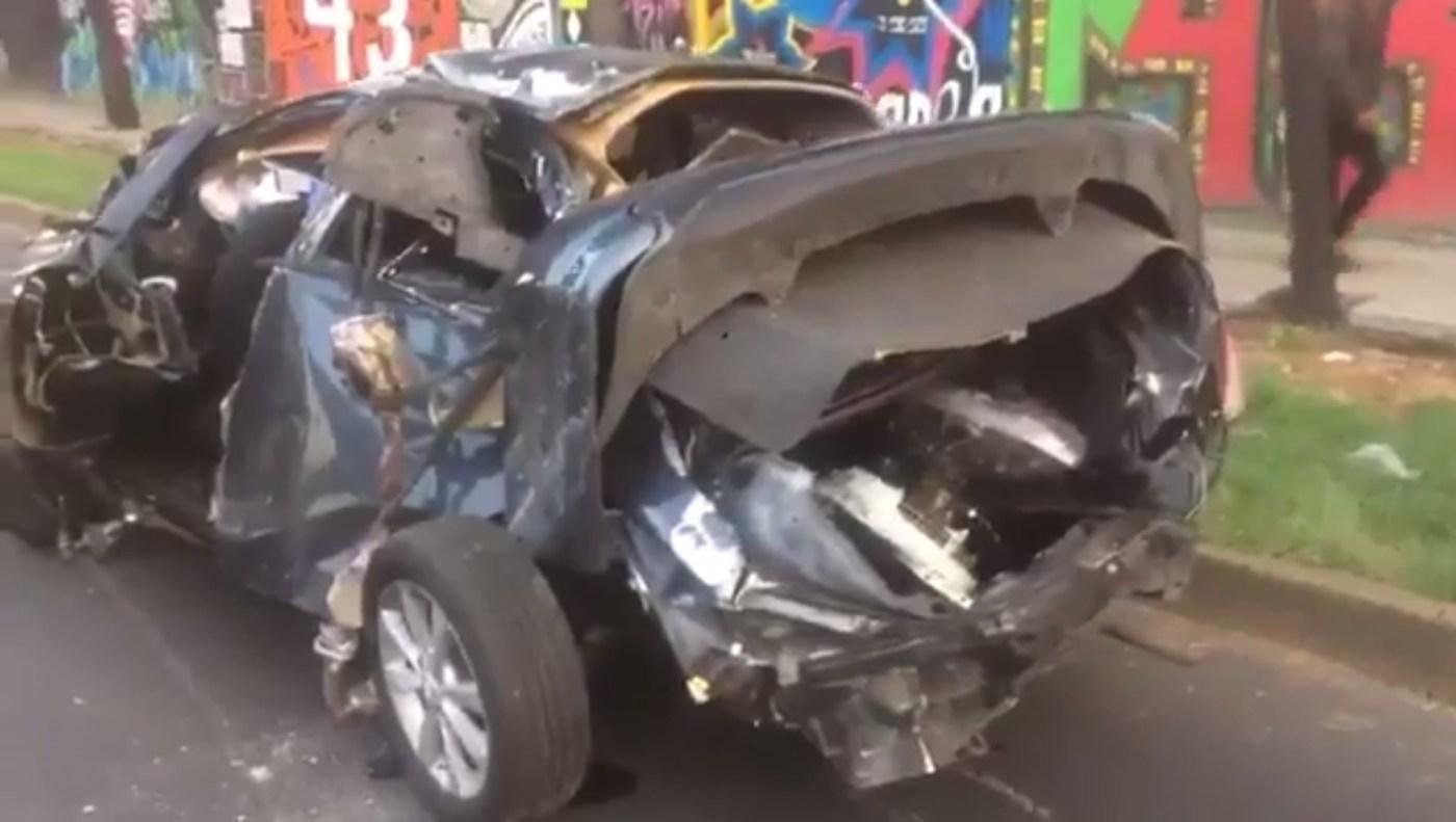 Choque automovilistico sobre san isidro en Azcapotzalco