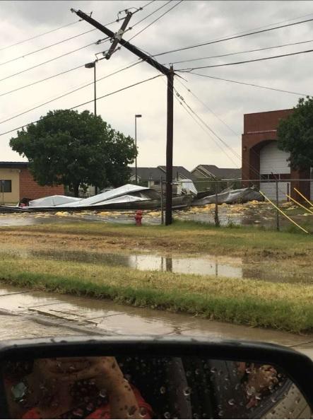 severas tormentas afecta a Laredo Texas
