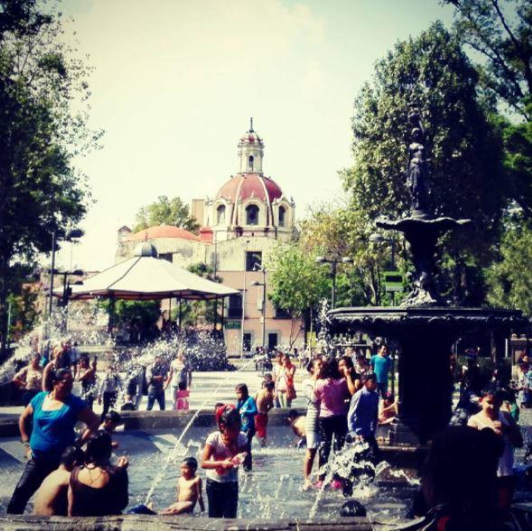 Capitalinos, Alameda, Fuente, Calor, Noticias, Noticieros televisa
