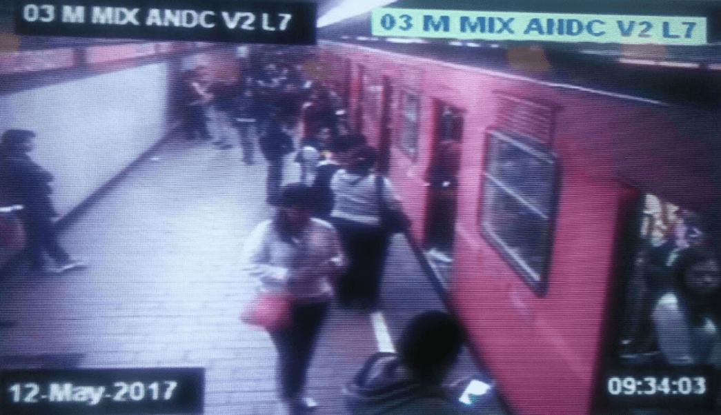 Andén de la Linea 7 del Metro CDMX (Twitter @MetroCDMX)