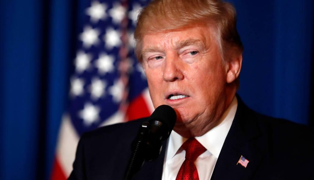 El presidente Donald Trump habla en Mar-a-Lago en Palm Beach, Florida. (AP/archivo)