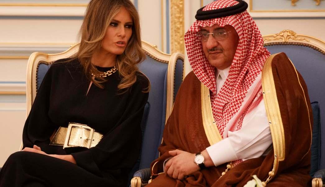 La primera dama de Estados Unidos, Melania Trump, en Riad (AP)