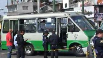 asaltan transporte publico en la ciudad de mexico