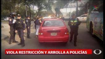 Hoy No Circula, Policías de Tránsito, Policías, Tránsito, Mujer Atropella, Corralón