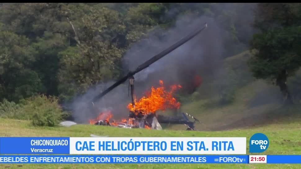 Cae, helicóptero, sierra, Santa Rita, Chiconquiaco, Veracruz