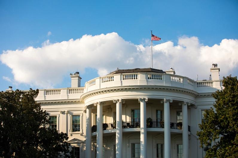 La fachada sur de la Casa Blanca (Getty Images)