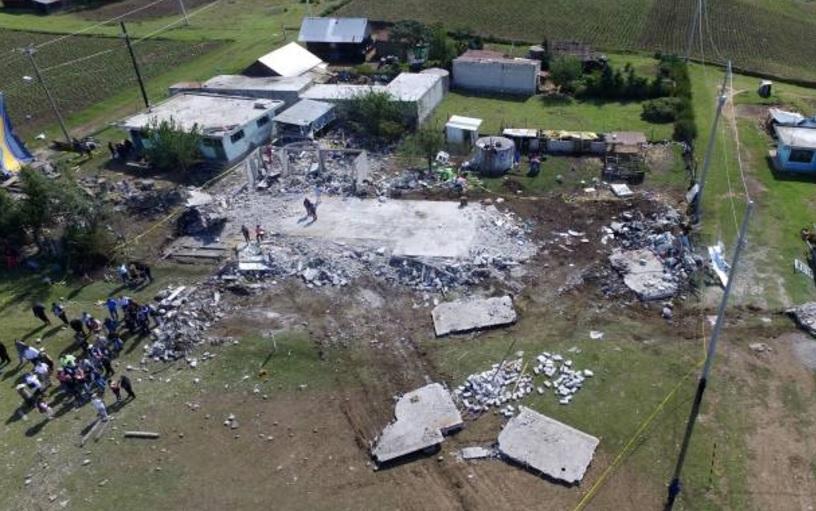 Explosión de pirotecnia en Chilchotla, Puebla, dejó 14 muertos, 11 de ellos menores, y 22 heridos. (Getty Images)