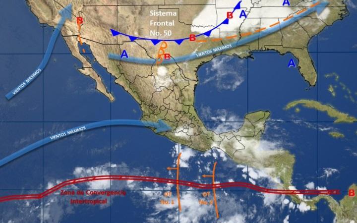 Para Guerrero, Oaxaca y Chiapas prevé tormentas