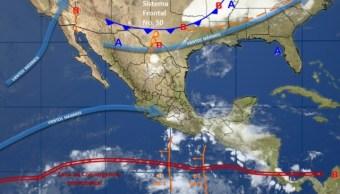 Fenómenos meteorológicos en la República Mexicana (Twitter @conagua_clima)