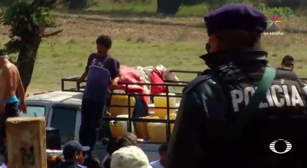 Fuga de Combustible, Robo de gasolina, Huachicoleros, Puebla, Enfrentamiento, Triángulo Rojo