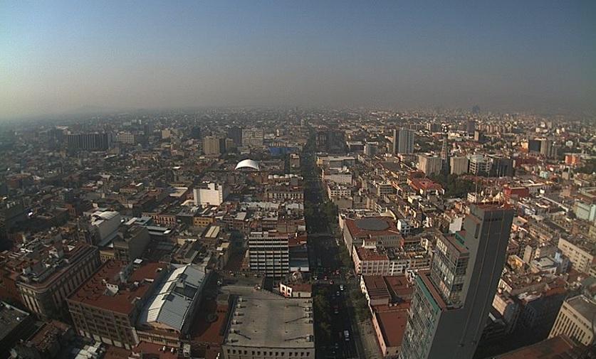 La Ciudad de México vista desde la Torre Latino (Twitter @webcamsdemexico)